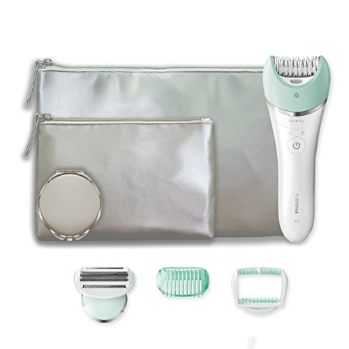 Philips Satinelle Advanced Epilierer Wet & Dry + Set 2 Pochette und Spiegel BRE620Combo