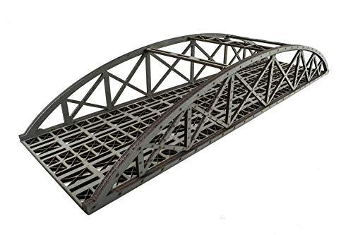 War World Scenics - Puente Tipo Arco Bowstring Gris de vía Doble 560mm con Detalles - Modelismo Ferroviario OO/HO, Maquetas