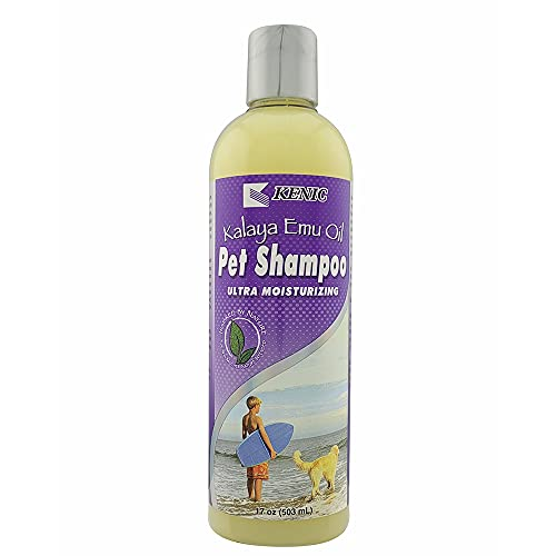 Kenic Kalaya Ultra Moisturizing & Restorative Emu Oil Pet Shampoo- Soap & Paraben Free- Made in USA- for Dogs and Cats