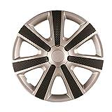 ホイールカバー 14インチ 4枚 日産 ノート (シルバー&ブラック) 「ホイールキャップ セット タイヤ ホイール アルミホイール」