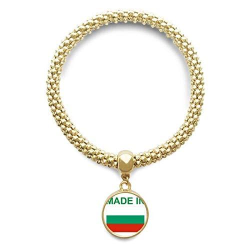 DIYthinker Damen Hergestellt in Bulgarien Country Liebe Goldene Armband Laufende Anhänger Schmuck-Kette