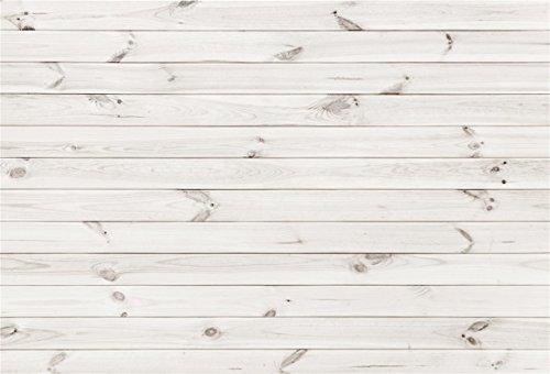 AOFOTO 1,8 x 1,2 m weiße Holzplanke Hintergrund Vintage Holzplatte Hintergrund Hartholz Wand Zaun Bodenbrett Stillleben Schießen Dekor Säugling Neugeborene Portrait Foto Studio Requisiten Vinyltapete