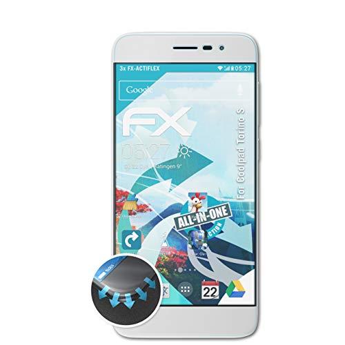 atFolix Schutzfolie kompatibel mit Coolpad Torino S Folie, ultraklare & Flexible FX Bildschirmschutzfolie (3X)