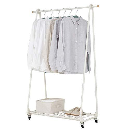 LXLA- Peut déplacer n'importe où vêtements étagères cintres au sol simple porte-manteau nord de l'Europe chambre moderne en bois Conseil grille 83 × 46 × 147 cm (Couleur : Grid style)