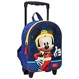 Disney Mickey Mouse Sac à Dos à roulettes - 3D - Bleu
