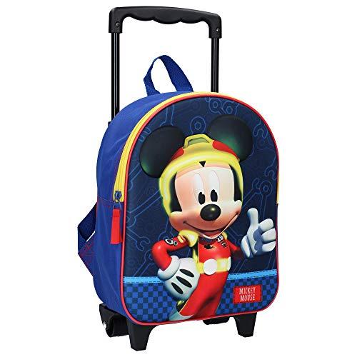 Disney Mickey Mouse Trolley Rucksack für Kinder - Blau