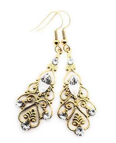 Goldohrringe mit Swarovski-Kristall, Mutter-Frau-Jubiläumsgeschenk, verschiedene Farben erhältlich.