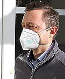 10x Powecom KN95 FFP2 Maske Atemschutz Mundschutz CE 2834 Geprüft EN149:2001+A1:2009 FAKECHECK Echtheitsprüfung