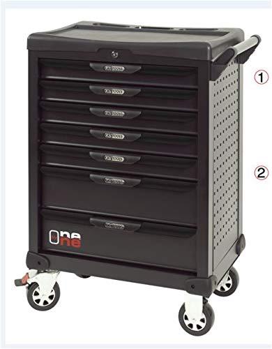 KS Tools 823.7154 - Servante d'atelier - 7 tiroirs avec composition d'outils pour la carrosserie - OnebyOne - Perforations normalisées pour fixation d'accessoires - 166 pièces