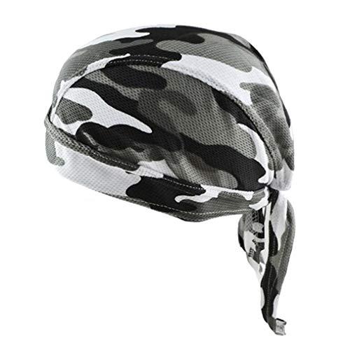 Casquillo del Cráneo Unisex Sudor De Secado Rápido Absorbe Patrón del Sombrero del Pirata Transpirable Camuflaje