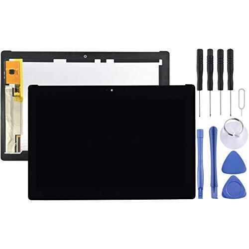 BOYUHII交換用LCDディスプレイタッチスクリーン AsusのZenpad 10 Z300 Z300CL Z300CNL P01T(イエローフレックスケーブル版)用液晶画面とデジタイザのフルアセンブリ ATCYE (Color : Color1)