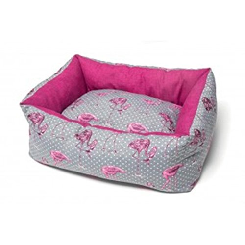 Hundehütte für Hunde Elba Flamingo grau/pink 45x 60cm Leopet