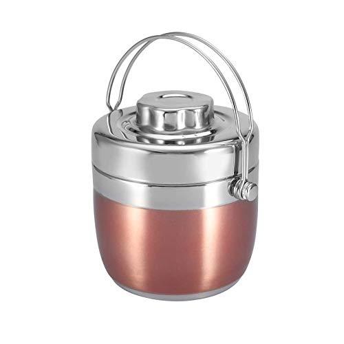 Japanische Thermo-Lunchbox mit Griff, tragbar, Edelstahl, isoliert, 1,2 l