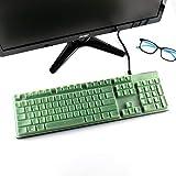 Leze - Ultra Thin Keyboard Cover Skin Protector for Logitech G512 G413 K840 Mechanical Gaming Keyboard - Green