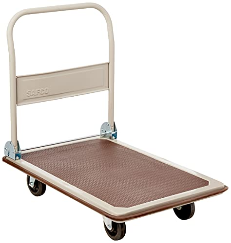 Safco Products 4078 Fold Away Large Platform Utility Hand Truck, Tropic Sand