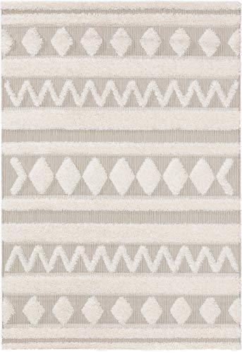 benuta PLUS In- & Outdoor-Teppich Carlo Cream/Beige 160x230 cm - Outdoor-Teppich für Balkon & Garten