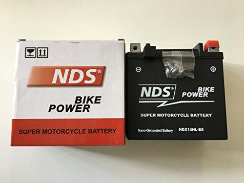 NDS HDX14HL-BS Batteria moto GEL per Harley Davidson 883