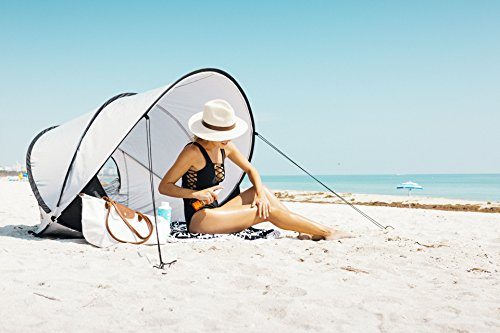 Instapalm Portable Automatic Pop Up Cabana Beach Tent Shade and Sun Shelter Carry Bag Included
