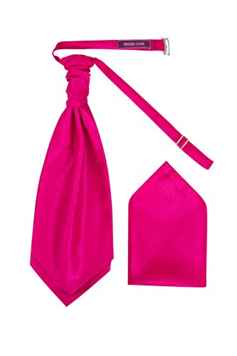 Dresscode Corbata de Corbata Pre-Decorada Para Hombres Corbata y Pañuelo a Juego (Rosa Fucsia)