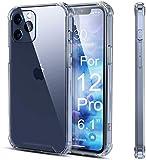 Coque iphone 12, iphone 12 Pro transparent TPU Silicone modèle 6.1 pouces 2020, housse antichoc avec coins renforcés. Protection iphone pour téléphone/smartphone Apple. Etui fin souple et résistant.