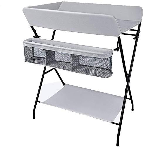 H.yina Table à Langer Portable, Unités de Massage pour Nouveau-né Se Pliant dans Une Chambre d'enfant pour Petits espaces, 0-2 Ans (Couleur: Gris foncé)