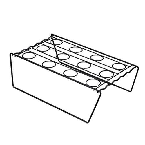 Haorw Estante para Hornear Cupcakes con Cono de Helado Autoservicio Estante de Almacenamiento para exhibición de Helados de Bricolaje Negro