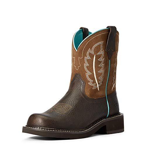 ARIAT Fatbaby Heritage Feather II Western Boot off_white Size: 7 UK