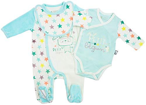 Petit Béguin - Juego de ropa para bebé (3 piezas, talla 50 hasta 74. azul 56