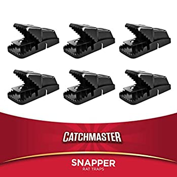 Catchmaster Jumbo Snapper Quick Set Rat / Mouse Snap Trap - 6 Pack