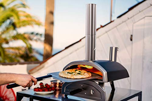 Ooni Fyra 12 Wood Fired Outdoor Pizza Oven u2013 Portable Hard Wood Pellet Pizza Oven u2013 Ideal For Any Garden Space - Portable Pizza Oven - Garden Pizza Oven Outdoor Cooking