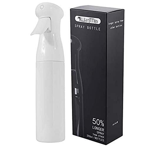 HZL 250ml Spray Bottle Salon Hairdressing Sprayer, Empty Water Sprayer, Portable Spray Bottle, Fine Mist Spray Bottle, Refillable Bottles(White)