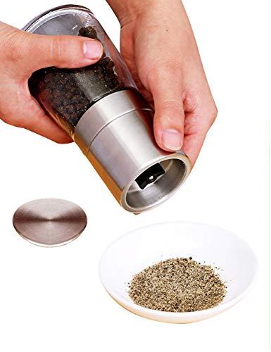 L#039HOPAN Home Adjustable Glass Salt Pepper Grinder mill Glass Body Stainless Steel Mill170ML