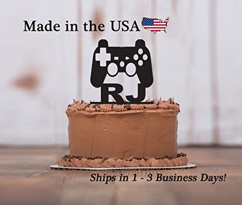 Gamer Cake Topper with Keepsake Base, Game Controller, Boys Birthday Party, Gamer, Game Party, Controller, Personalize, Party Decor, Keepsake