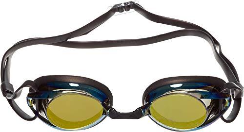 Swim Research Adult Fastspecs Goggle (Regular & Mirrored) (Black/Gold Mirror/Smoke Lens)