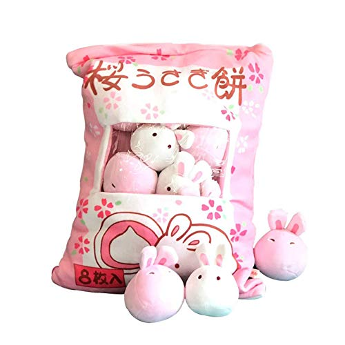 Snack Bags Plush Toy, Stuffed Toys Removable Fluffy Plush Mini Doll Cute Throw Pillow Pudding Decorative Animal Dolls Creative Toy Gifts for Teens Girls Kids