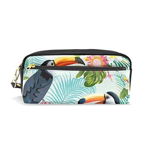 BONIPE - Estuche para lápices, diseño de pájaros de tucán tropicales, con...