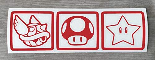 Mario Kart-Aufkleber – lustiger Vinyl-Aufkleber für Auto, Stoßstange, Wand, Fenster, Spiegel, Laptop oder Auto – HSS019, Vinyl, Small - 4cm x 14cm
