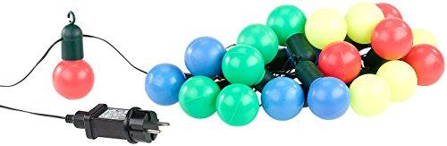 Lunartec Disco Lichterkette: 4-farbige LED-Lichterkette mit 20 Lämpchen, 1,2 Watt, 475 cm, IP44 (Lichterkette Strom)