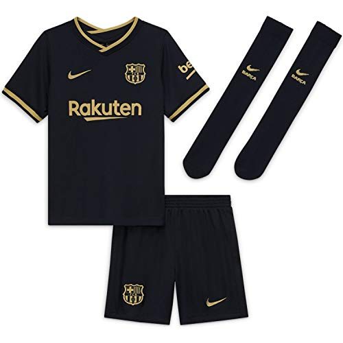 Nike 2020-2021 Barcelona Away Little Boys Mini Kit