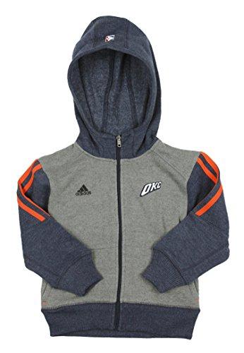 adidas NBA Oklahoma City Thunder - Sudadera con capucha para niño, 24 meses, Gris