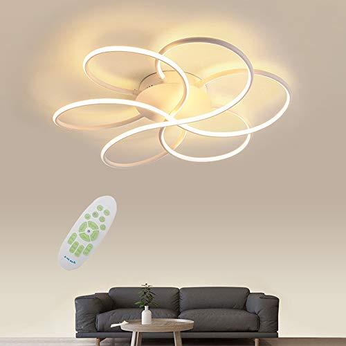 JDMYL 72W LED Deckenleuchte, Moderne Kreative Blume Dimmbare Deckenleuchte, Kreative Aluminium Deckenleuchte Für Küche, Wohnzimmer, Schlafzimmer, Kinderzimmer Φ60 * H13cm [Energieklasse A ++]