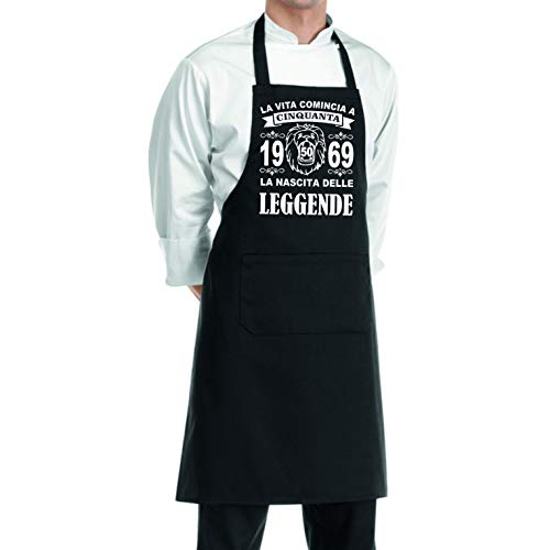 pazza idea grembiule cucina uomo donna la nascita delle leggende 50 anni 1969 compleanno