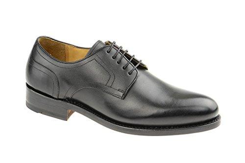 Gordon & Bros Levet 4365, rahmengenähte Herren Business Schuhe/Schnürhalbschuhe (Derby) mit Ledersohle, Schwarz (black), EU 43