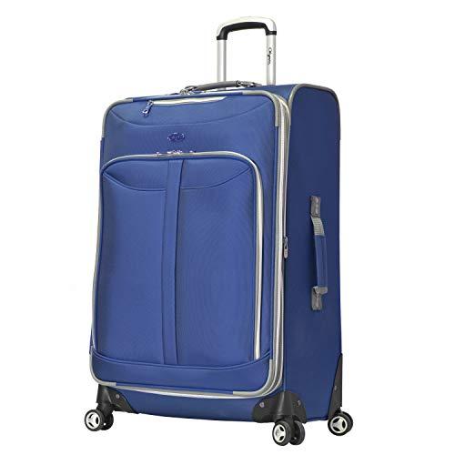 Olympia Luggage Tuscany Koffer, 76 cm, erweiterbar, vertikal, blau (Blau) - OE-8830-BU