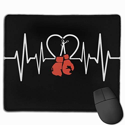 Schreibtischunterlage,Boxventilator Heartbe-At Boxhandschuhe Boxer-Gaming-Mausmatte, Weiche, Haltbare, Rutschfeste Gaming-Pads Für Die Home-Office-Dekoration,25cmx30cm