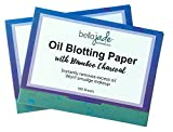 Oil Blotting Paper Sheets – Instantly Absorbs Excess Oil and Shine from Face without Smudging Makeup – Large size, 200 Tissues … (charcoal)