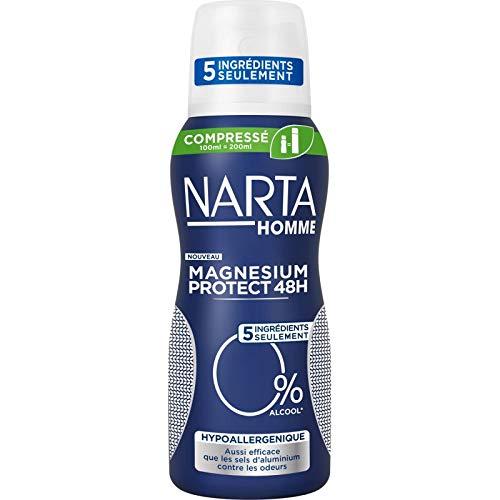 Narta - Homme Déodorant Atomiseur Compressé Magnesium Protect Hypo 100Ml - Lot De 3 - Livraison Gratuite