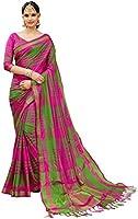 ANNI DESIGNER Cotton Silk Saree with Blouse Piece