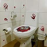 JNNUMY pegatinas de pared para decoración de sala de estudio pegatinas de baño de payaso con motosierra impermeable