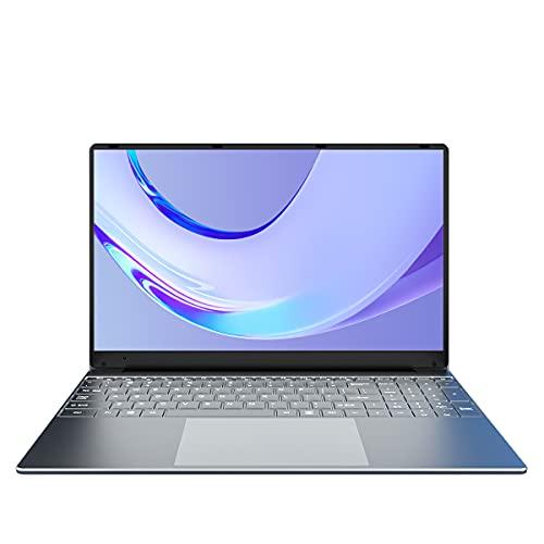 KUU A10 Ordenador Portátil 15.6'', Ultrabook Notebook Inter Celeron J4125, 8GB RAM 256GB SSD, Monitor de PC portátil FHD con USB 3.0 y Bluetooth 4.0, portátil con Windows 10, Teclado Plateado